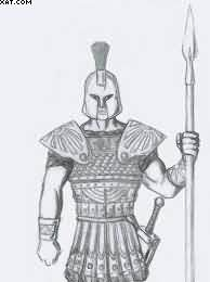 Ancient Greek Warrior Tattoo Sketch
