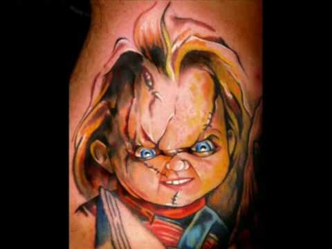 Angry 3D Chucky Tattoo