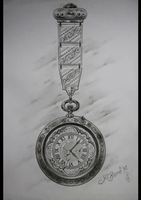 Another Clock Tattoo Sketch