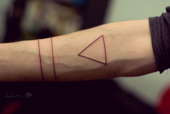 Armband And Triangle Tattoos For Boys