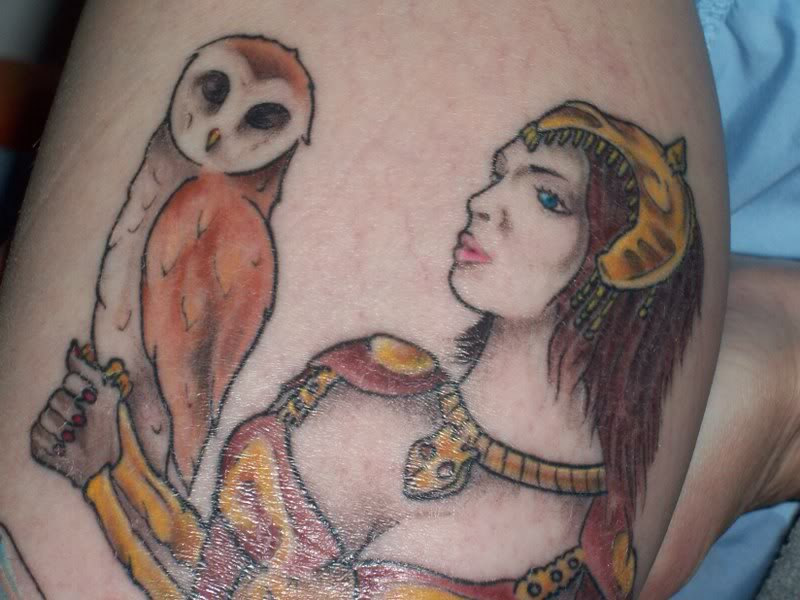 Athena Owl Tattoo