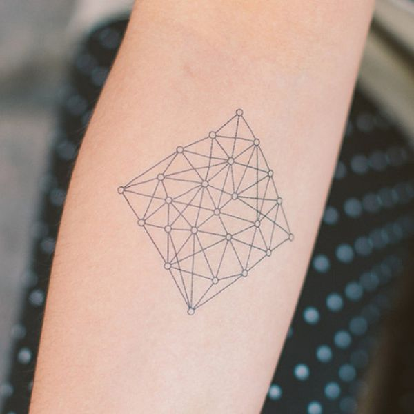 Attractively Angular Geometric Triangle Tattoos