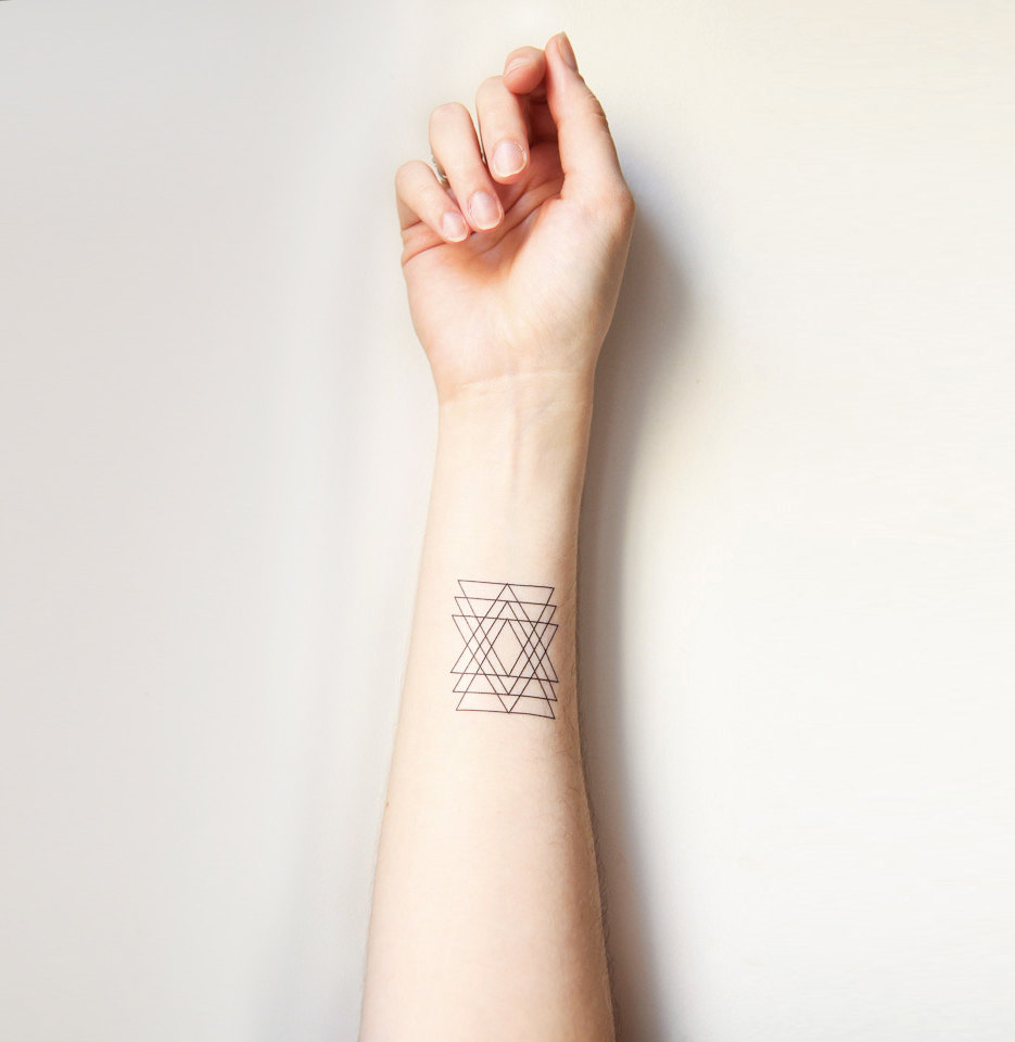 Awesome Geometric Triangle Tattoos Near Wrist