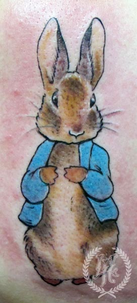 Awesome Peter Rabbit Tattoo