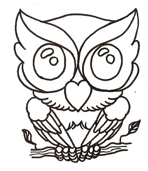 Baby Owl Tattoo Sample
