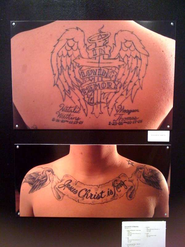Back And Collarbone Tattoos Images