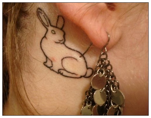 Back Ear Rabbit Tattoo Trend For Women