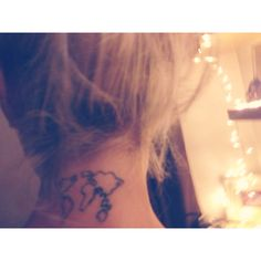 Back Neck Map Tattoos For Girls