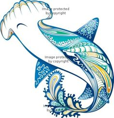 Beautiful Hammerhead Shark Tattoo Design