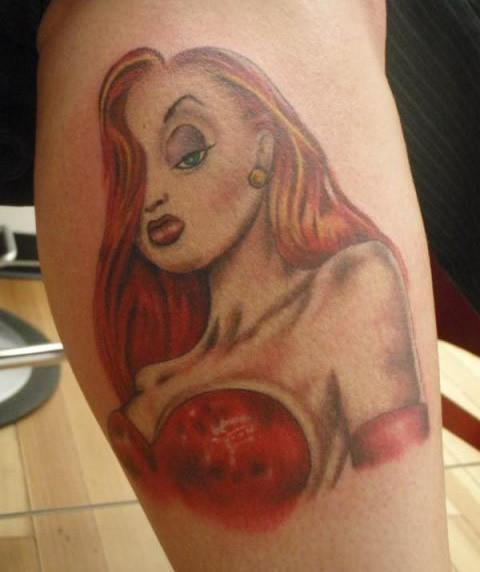 Beautiful Jessica Rabbit Tattoo