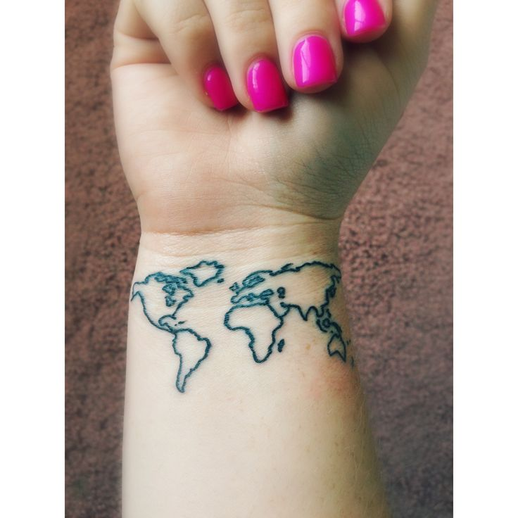 Beautiful Map Tattoo On Wrist