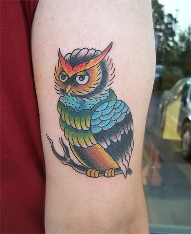 Beautiful Owl Tattoo On Arm