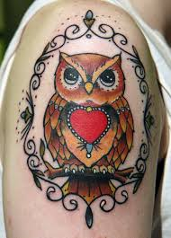 Beautiful Owl Tattoo On Shoulder