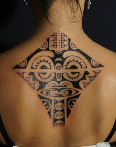 Beautiful Polynesian Tattoo On Upperback