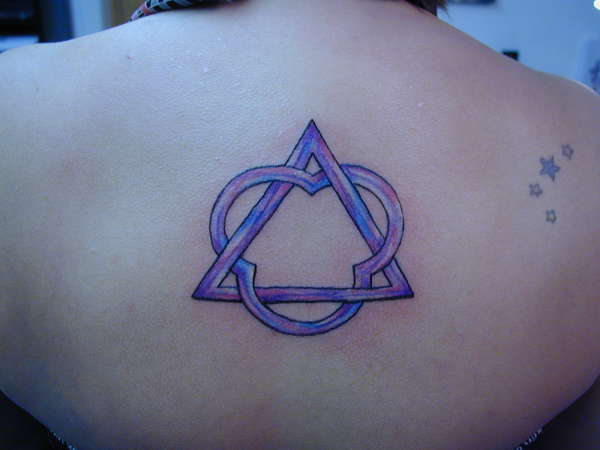 Beautiful Triangle And Star Tattoos