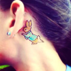 Behind Ear Rabbit Tattoo Trend