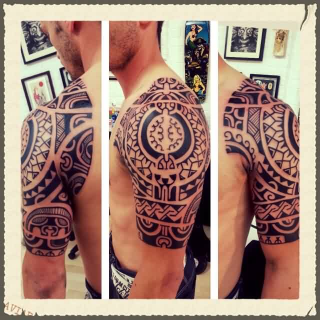 Best Half Sleeve Polynesian Tattoos