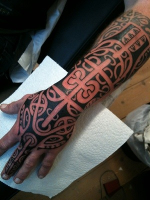 Best Maori Polynesian Tattoos On Arm And Hand