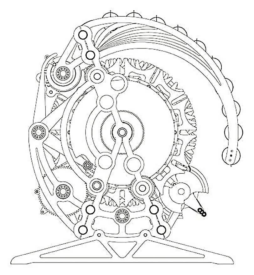 Biomechanical Gears Clock Tattoo Sample