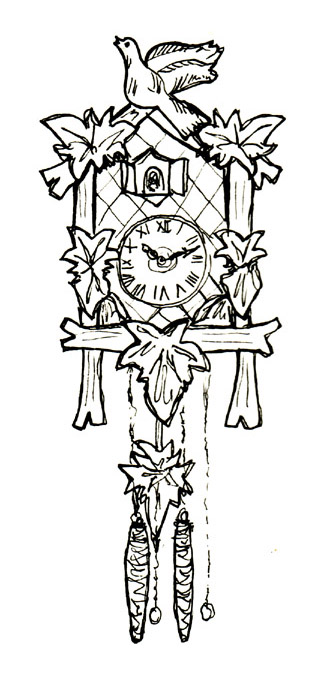 Bird On Clock Tattoo Sample