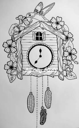 Bird On Cuckoo Clock Tattoo Idea