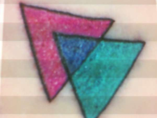 Bisexual Triangle Tattoos