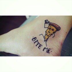 Bite Me - Pizza Tattoo