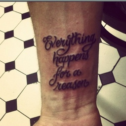 Black 3D Quote Tattoo Near Wrist
