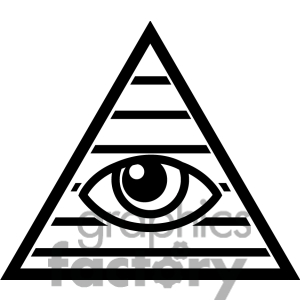 Black Eye Triangle Tattoo Graphics
