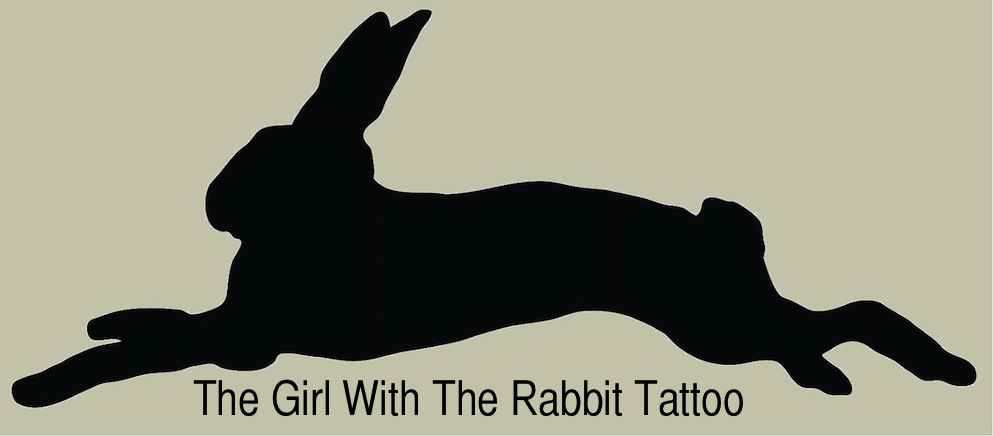 Black Ink Rabbit Tattoo Print