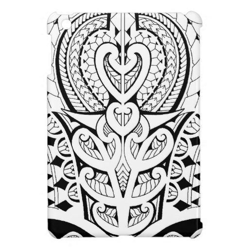 Black Koru And Polynesian Tattoo Art Art Ipad Mini Case