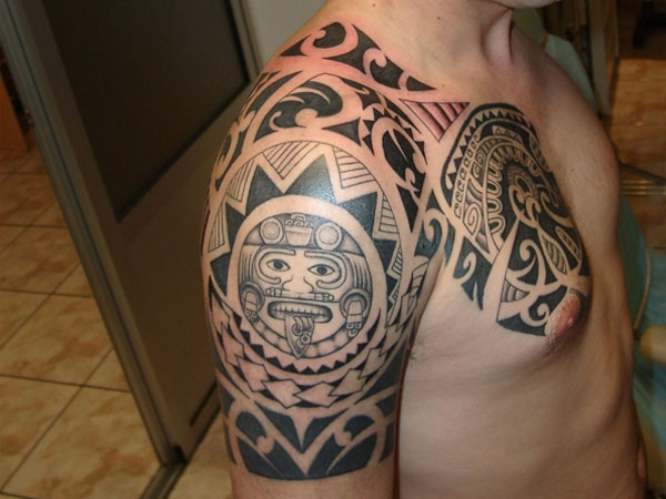 Black Maori And Polynesian Tattoos For Men