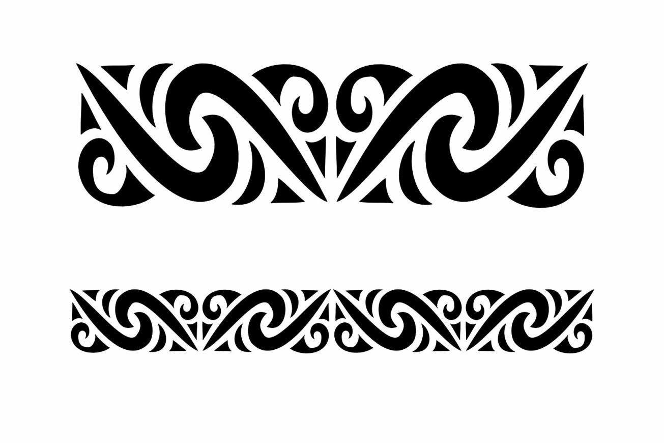 Black Polynesian Armband Tattoo Designs
