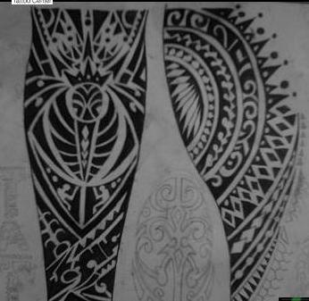 Black Polynesian Sleeve Tattoos