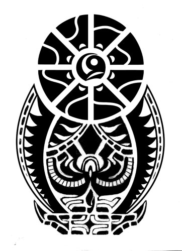 Black Polynesian Symbol Tattoo Design