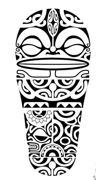 Black Polynesian Symbols Tattoo Design