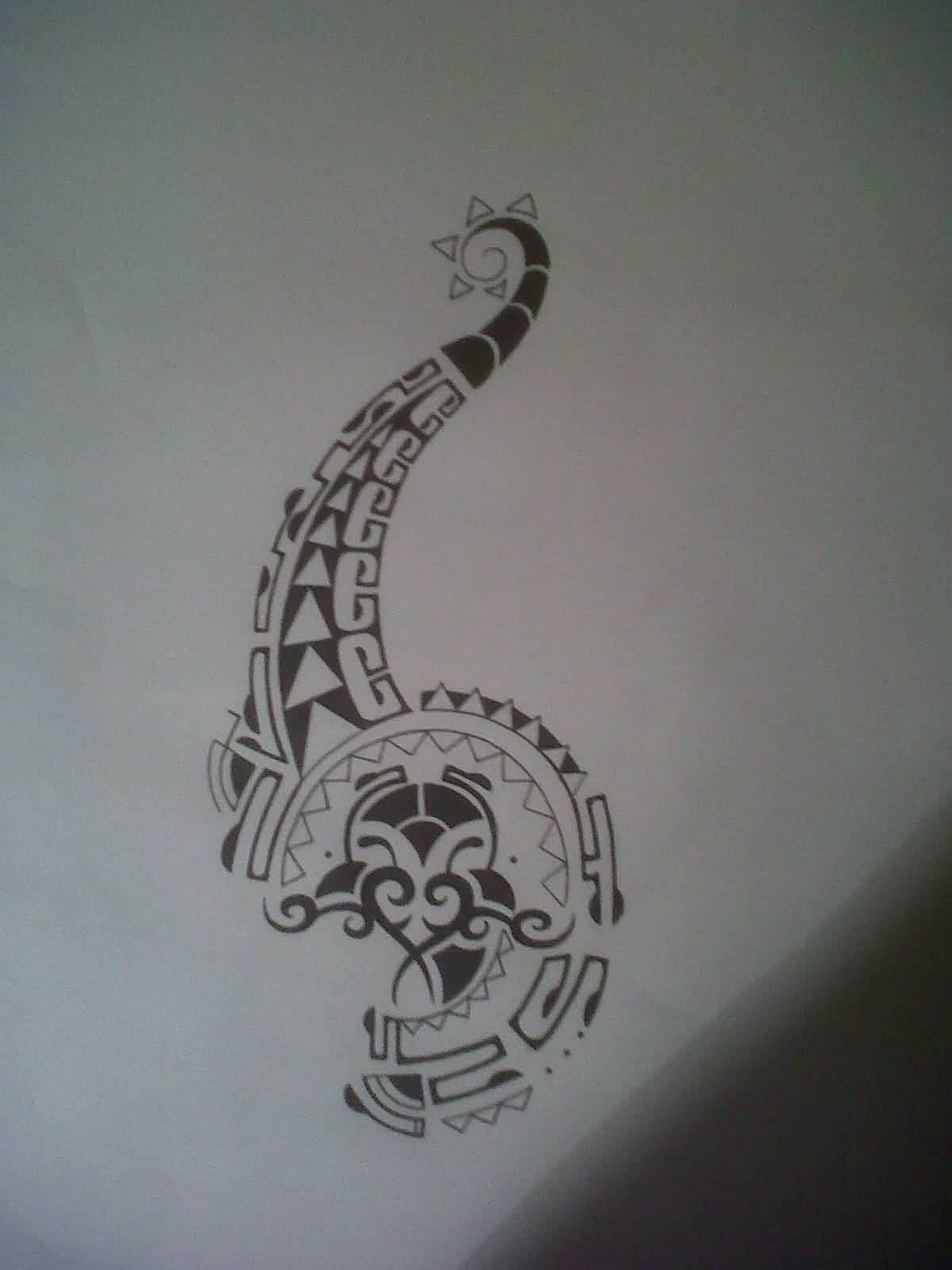 Black Polynesian Tattoo Design