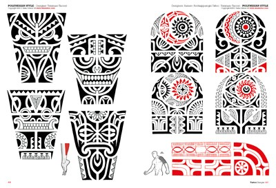 Black Polynesian Tattoo Designs