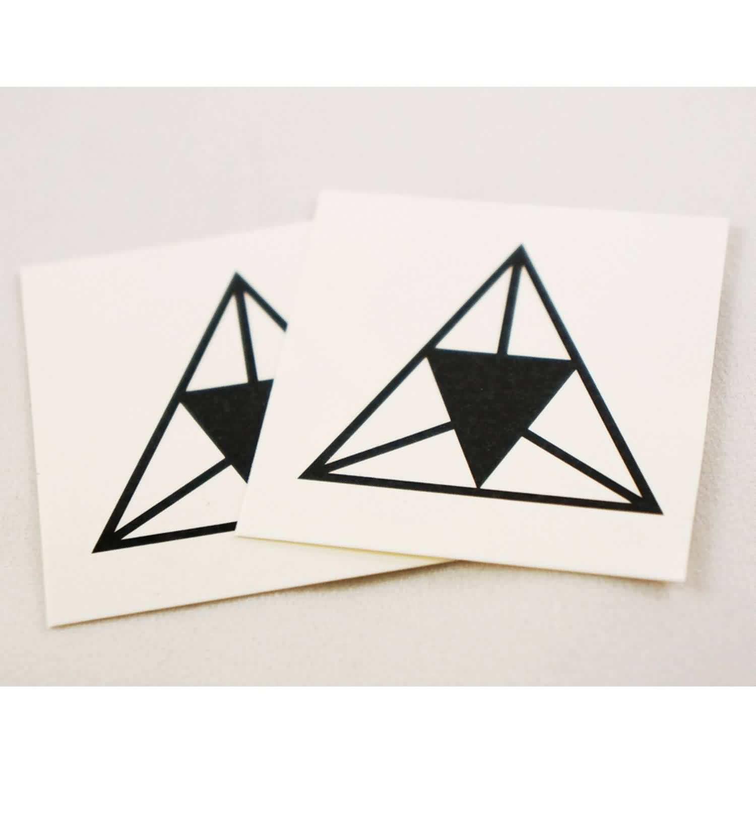 Black Triangle Tattoos Stickers