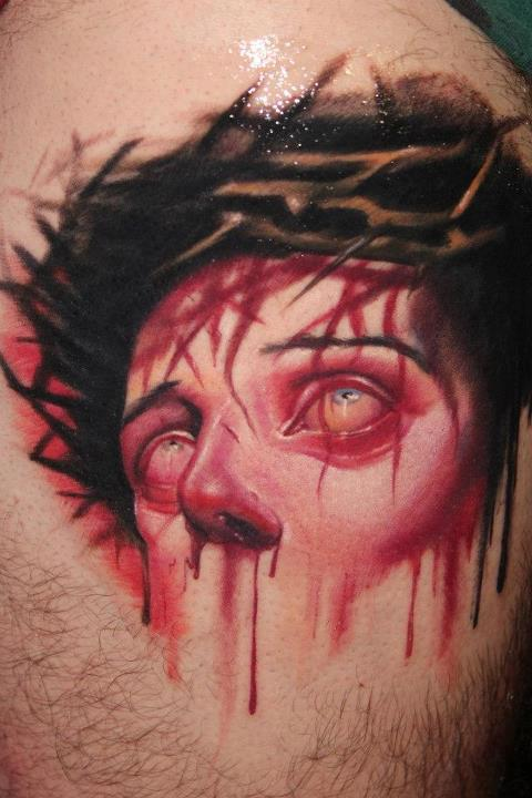 Bleeding Face - 3D Tattoo