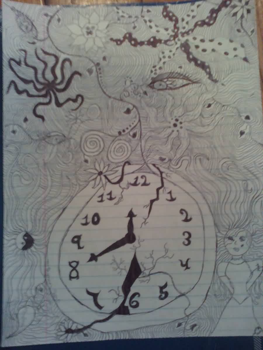 Broken Clock Tattoo Drawing