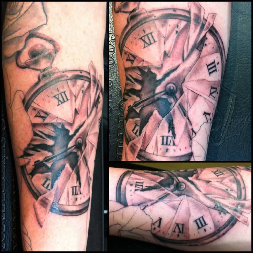 Broken Clock Tattoo