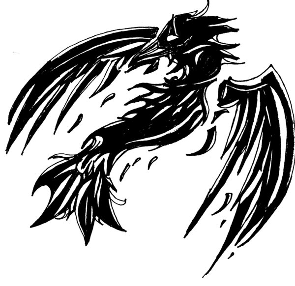Broken Crow Tattoo Version