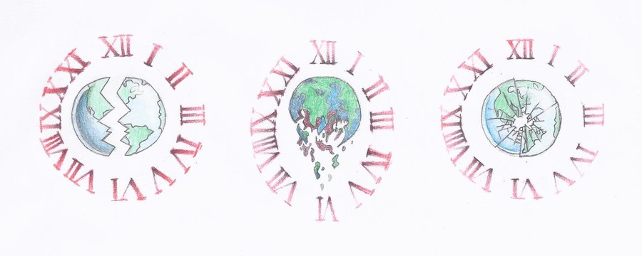 Broken Earth Clock Tattoo Samples