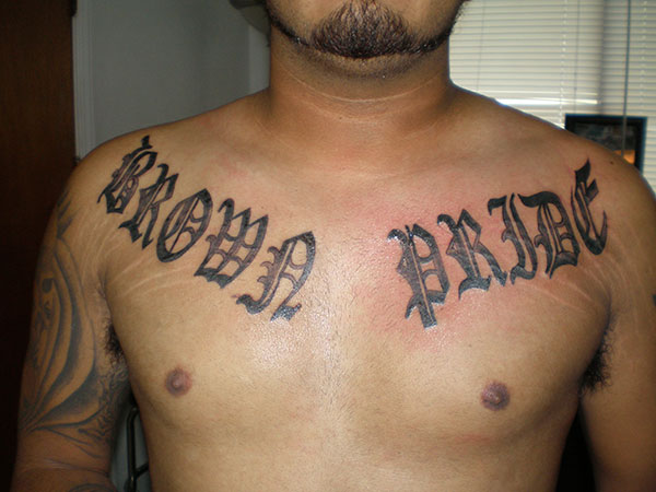 Brown Pride Collarbone Tattoos