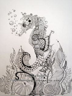 Bubbles Seahorse And Star Fish In Sea Tattoo Designs