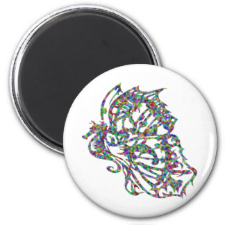Butterfly Seahorse Tattoo Magnet