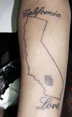 California Love - Map Tattoo