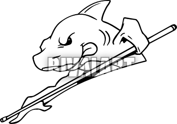 Cartoon Pool Shark Tattoo Design