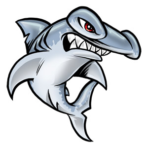 Cartoon Shark With Hammerhead Tattoo Design